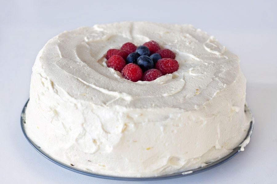 Angel Food Cake Icing Whipped Cream
