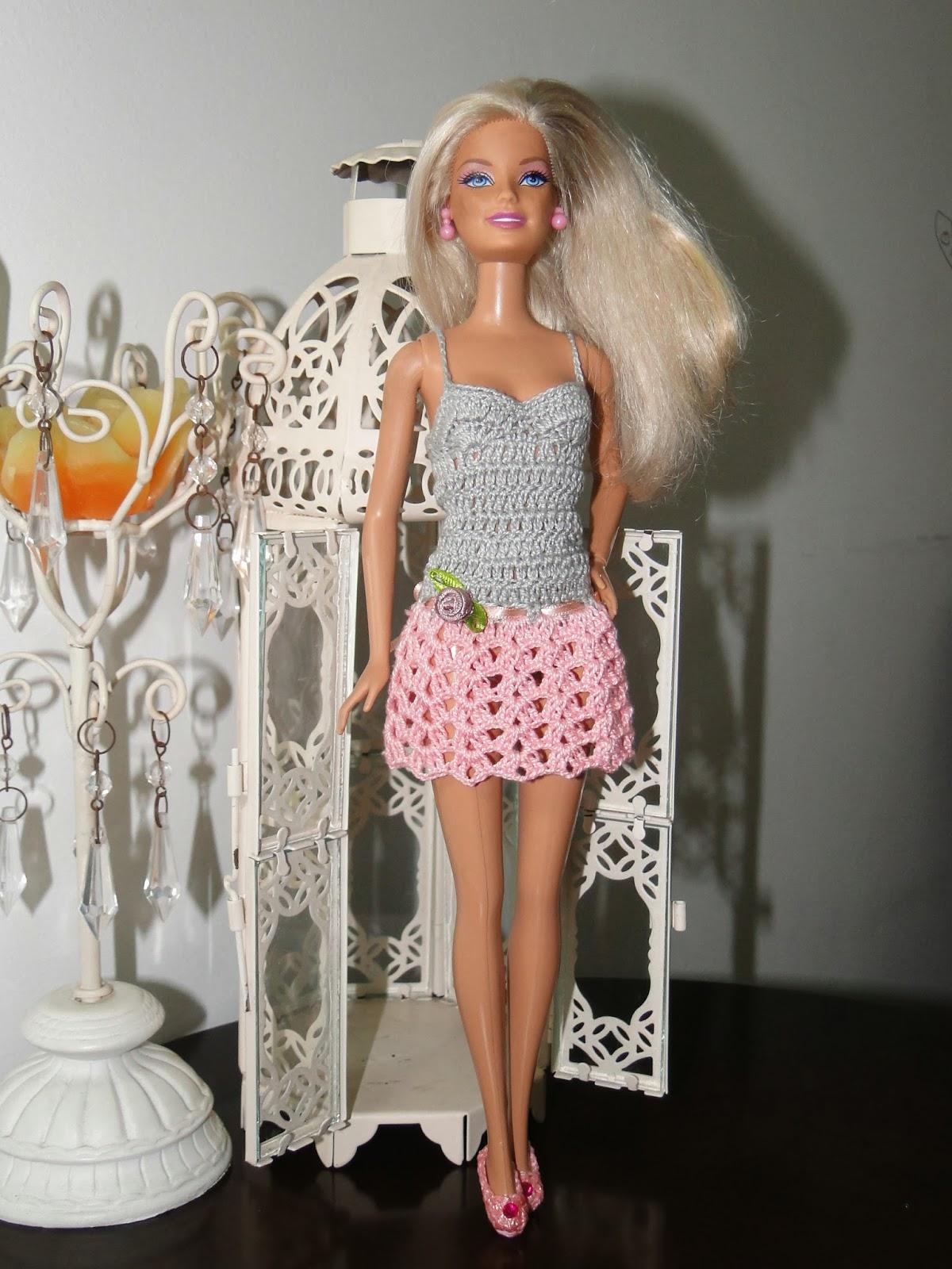 Vestidinho de Crochê Para Barbie 3