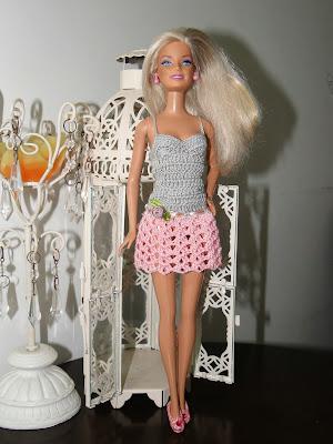 Vestidinho de Crochê Para Barbie