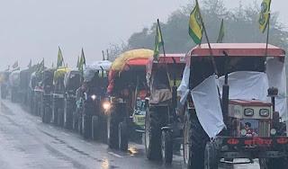 ठंड और बारिश के बावजूद दिल्ली से लगी सीमाओं पर डटे किसान, सरकार के साथ गतिरोध जारी #NayaSaberaNetwork