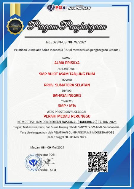 Kompetisi Hardiknas 2021 SMP Bukit Asam