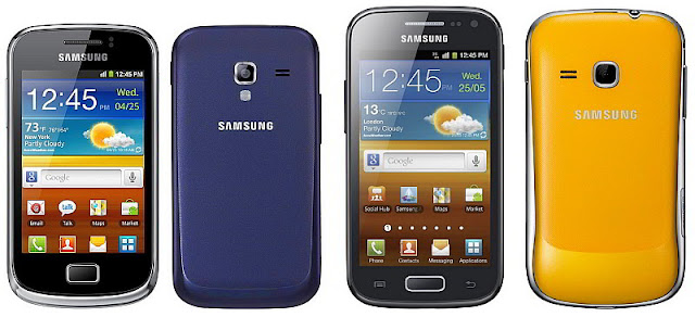 Samsung galaxy Ace 2 and Mini 2 launch date and prices
