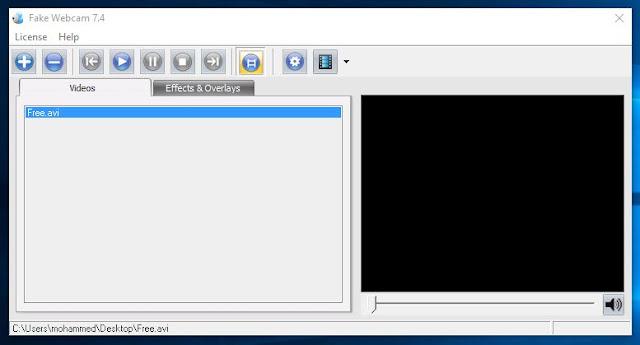 برنامج الكاميرا الوهمية للكمبيوتر