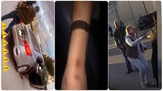 (بالفيديو)مطاردة و براكاج و اعتداء بالعنف على فتاة في شارع امام ناس