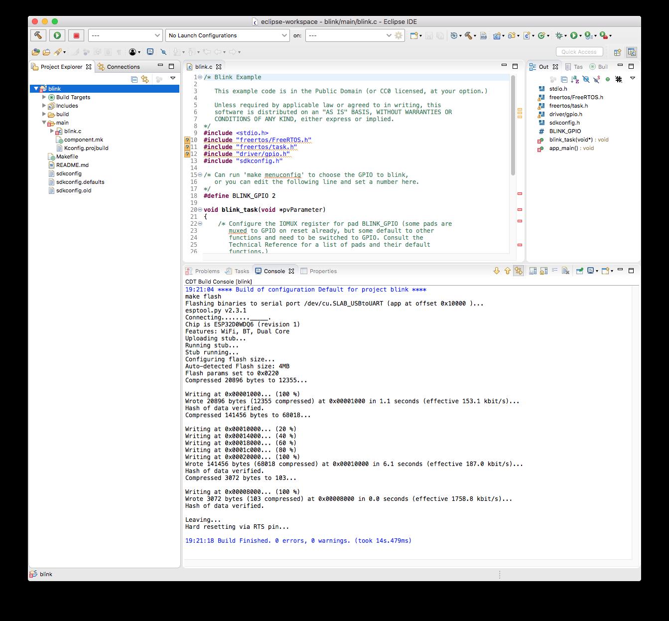 Reefwing Robotics: Espressif ESP32 Tutorial - Programming (Eclipse)