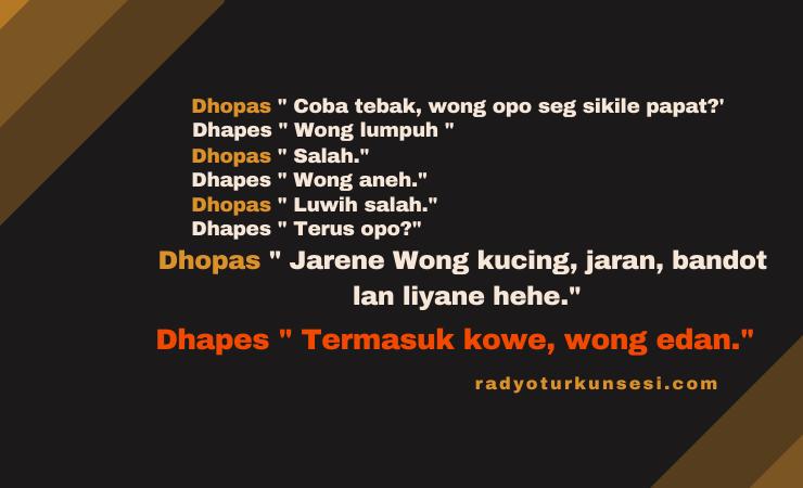 Cerita Lucu Bahasa Jawa