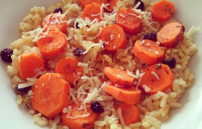 autumn risotto with dried fruits