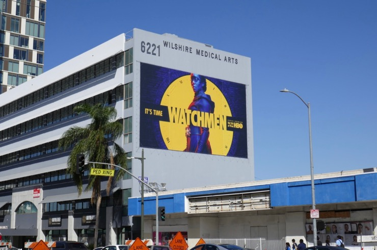 Giant Watchmen series billboard