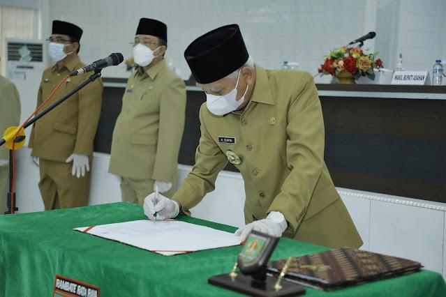 Bupati Asahan Melantik 49 Pejabat Administrator dan Pejabat Fungsional Ahli Utama