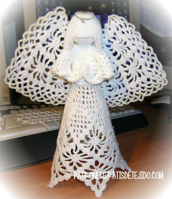 Cómo tejer un Angel para Navidad ~ varios modelos / Tutorial Crochet ...