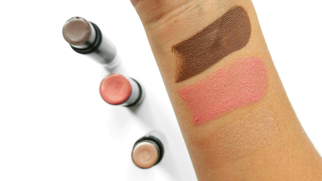 Klara Cosmetics Sculpt Me Skinny, Models Prefer Cream Blush Stick in Kiss, Benefit Cosmetics Watts Up