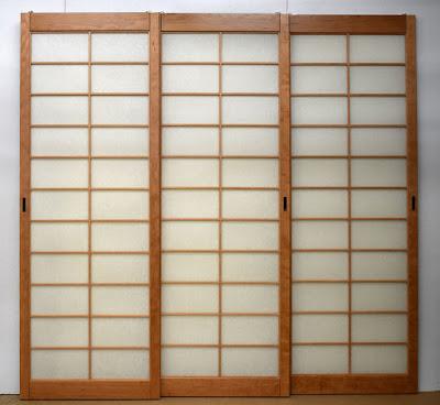 Triple sliding shoji doors