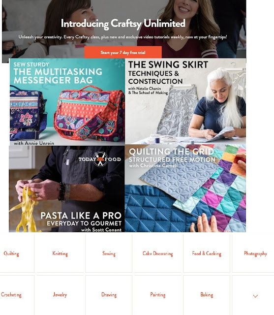 Join Craftsy Unlimited to Have every Crafty Class, plus new video tutorials