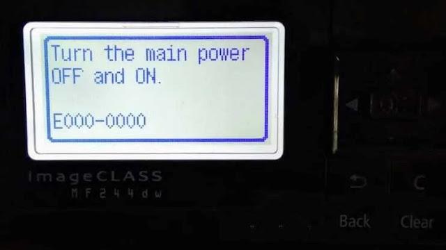 canon imageclass mf232dw error e000