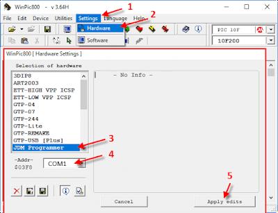 شرح برنامج WinPic800 خطوة 1