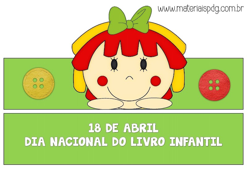 COROA E PONTEIRAS DE LÁPIS - DIA DO LIVRO INFANTIL - DOWNLOAD