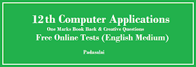 12th Computer Applications (English Medium) - One Marks Free Online Test - Chapter 18