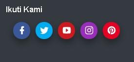 Membuat Tombol Follow Us Sosial Media SVG Ringan di Blog