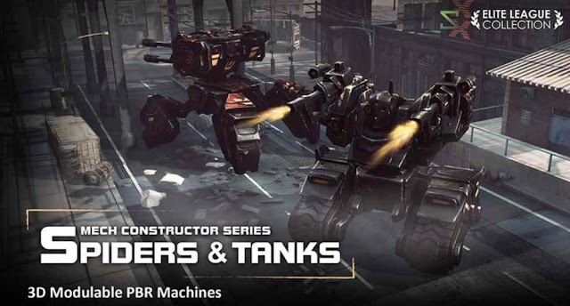 iClone Mech Constructor: Spiders and Tanks