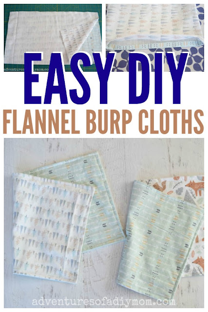 easy diy flannel burp cloths