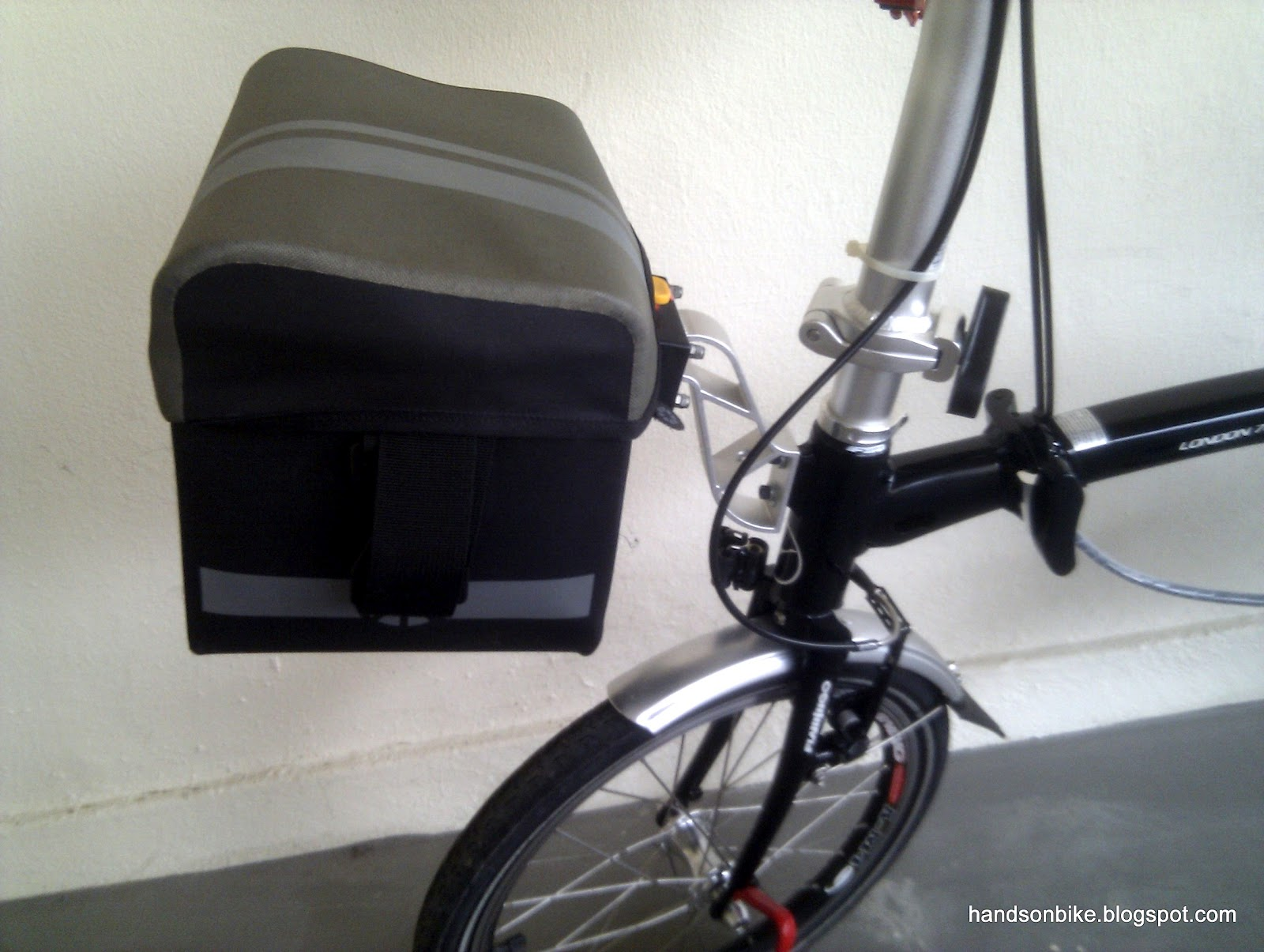 The Dahon Tour Bag Fits Nicely Onto Bike Does Not Affect Steering