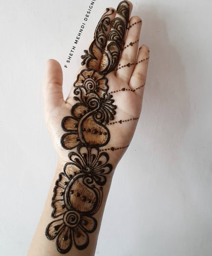 Beautiful mehndi design for diwali