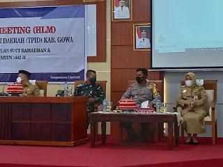 Kapolres Gowa Ikuti Level Meeting TPID Kabupaten Gowa
