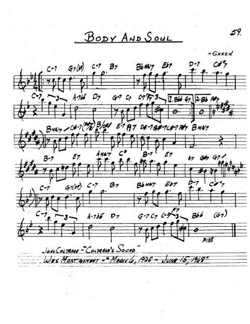 Partitura Saxofón Johnny Green