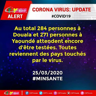 More than 500 new Corona Virus cases Feared in Cameroon