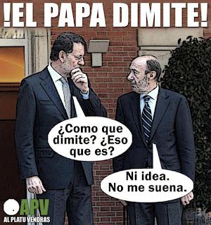 (HUMOR) proximo PAPA español para que no dimita
