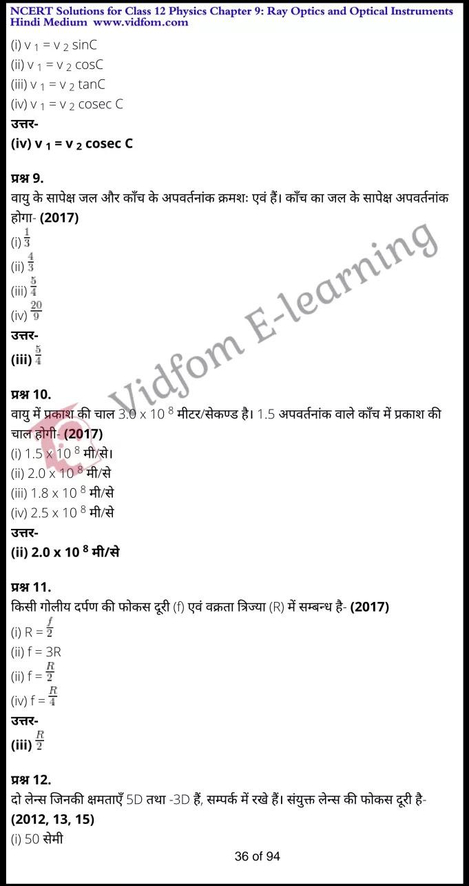 class 12 physics chapter 9 light hindi medium 36