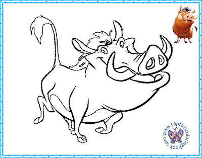 Timon and Pumbaa coloring pages