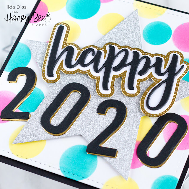 Happy 2020 New Years Card | Honey Bee Stamps by ilovedoingallthingscrafty.com