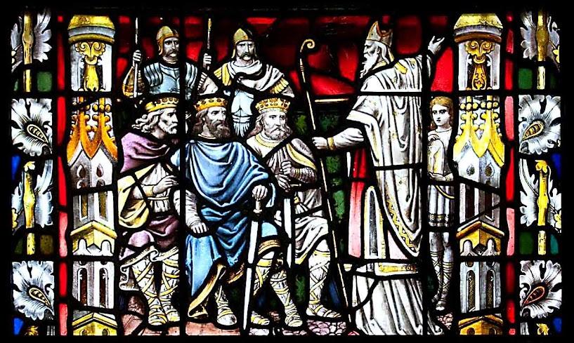 São Patrício pregando aos reis da Irlanda, catedral da Assunção, Carlow, Irlanda