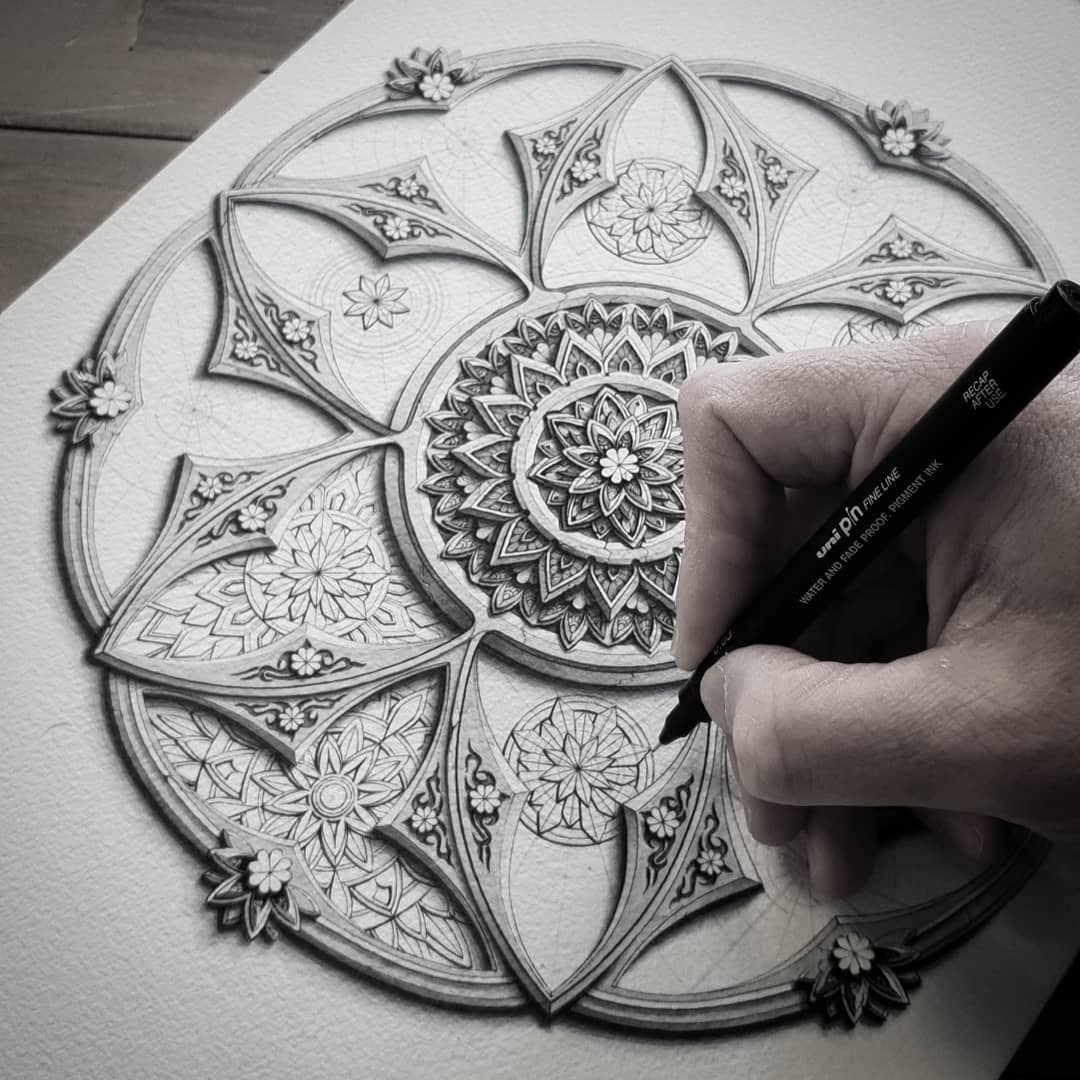 03-WIP-Baz-Furnell-3D-Looking-Mandala-Drawings-www-designstack-co