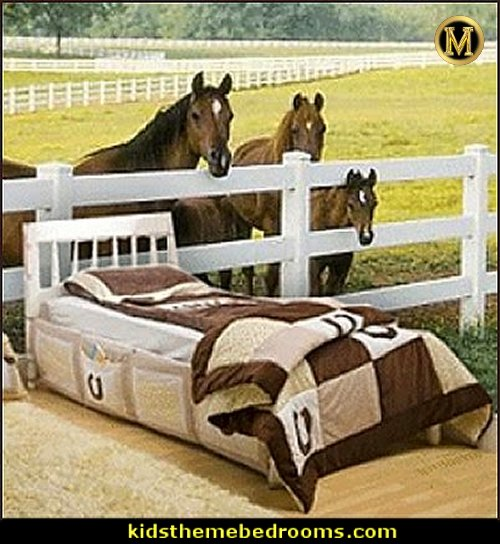 Horse themed bedroom decorating ideas Horse theme bedrooms