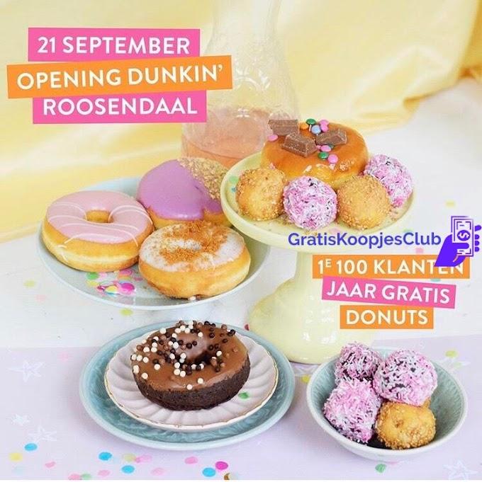 Gratis 1 Jaar Lang Dunkin' Donuts Roosendaal