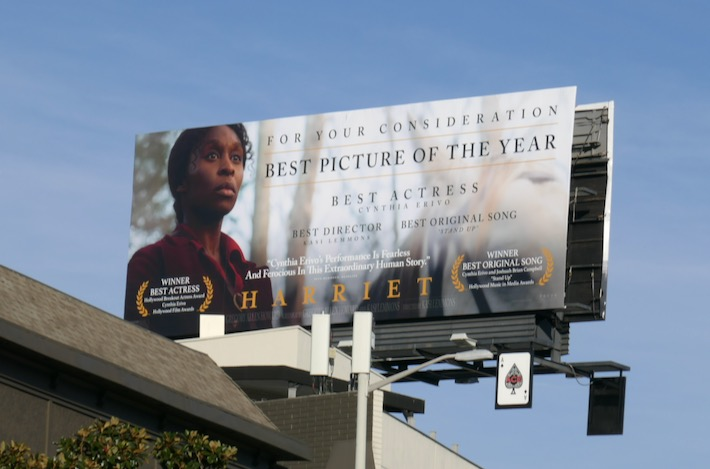 Harriet For your consideration billboard