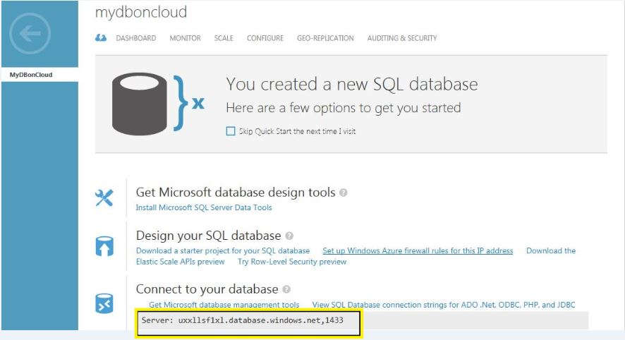 All about SQLServer: How to connect Azure SQL database