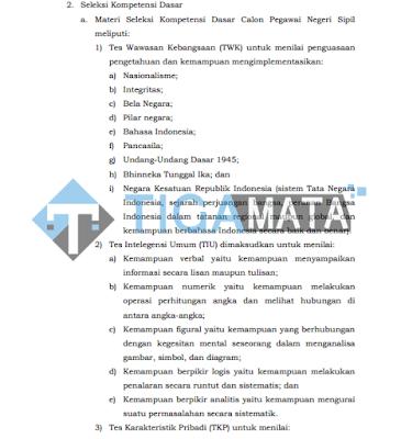 Kisi - Kisi Soal TKD CPNS 2018 disertai Modul Pdf Lengkap
