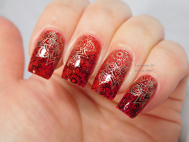 It Girl Nail Art IG201 over Julep Karissa