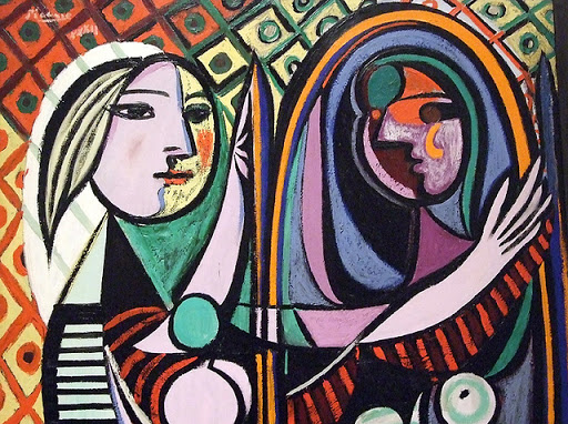 Girl Before a Mirror. Picasso