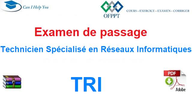 Examen de passage Technicien Spécialisé en Réseaux Informatiques .