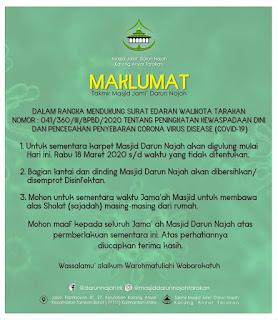 Maklumat Takmir Masjid Darun Najah Karang Anyar Tarakan - Kajian Islam Tarakan