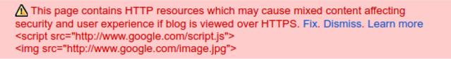 google blogger error message