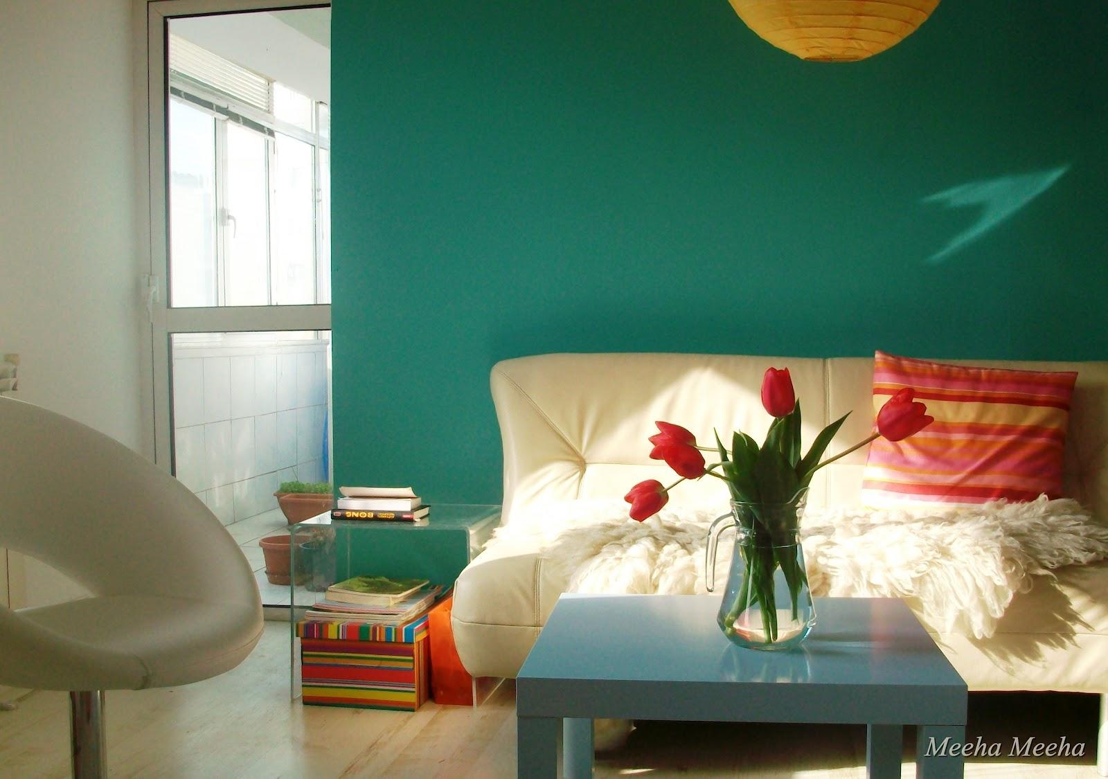 Meeha Meeha: Turquoise living room