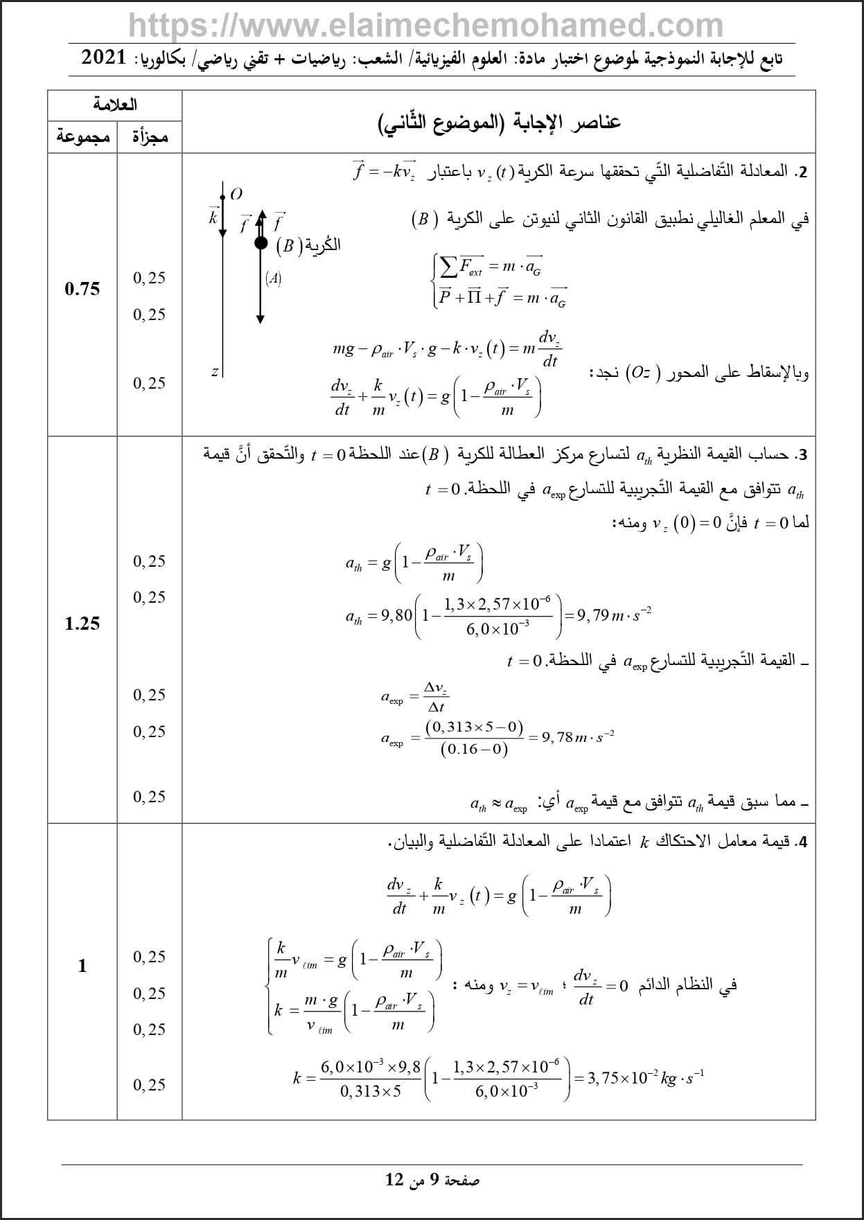 موضوع مادة الفيزياء