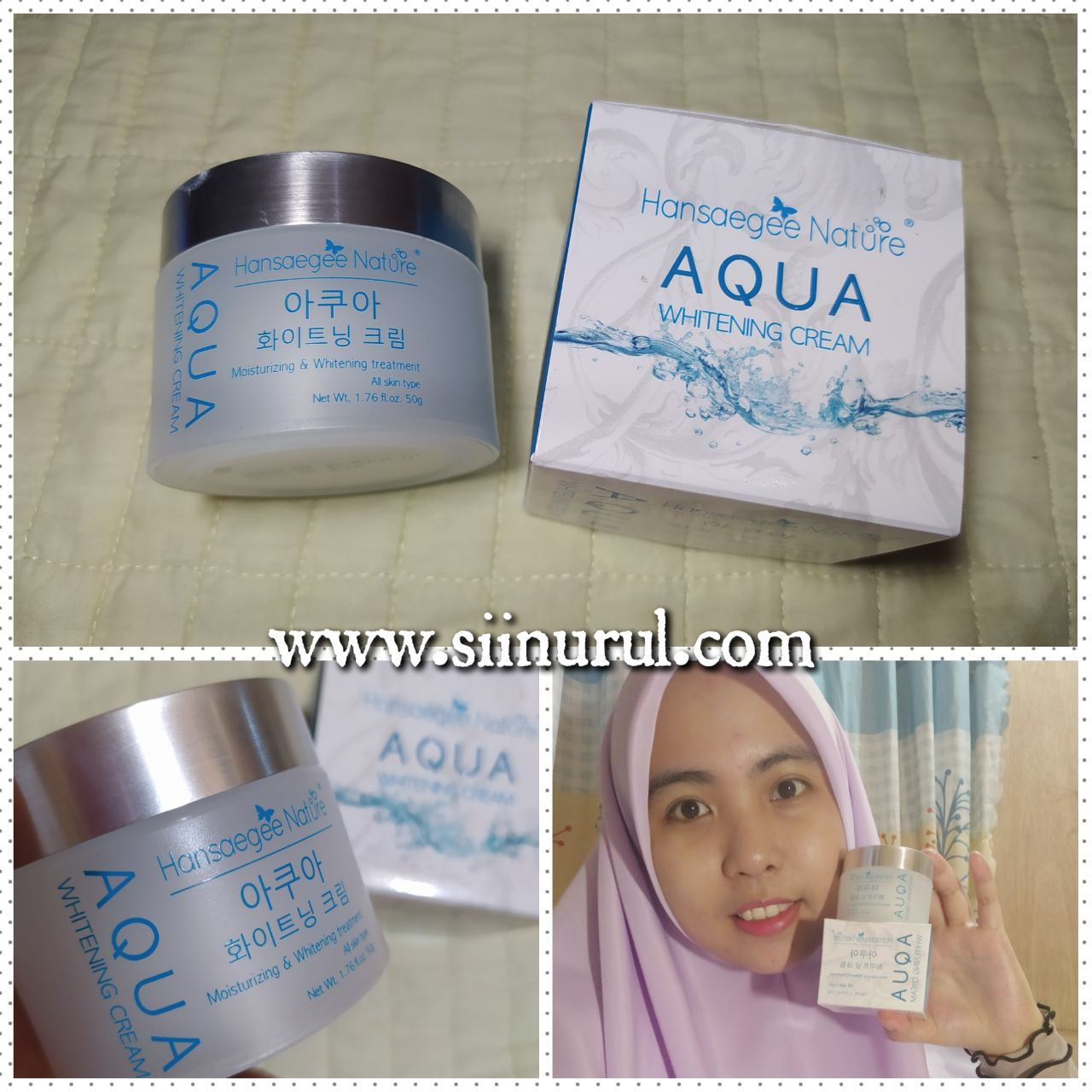 Review Aqua Whitening Cream Hansaegee Nature