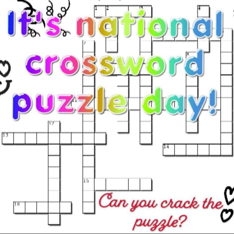National Crossword Puzzle Day Wishes Unique Image