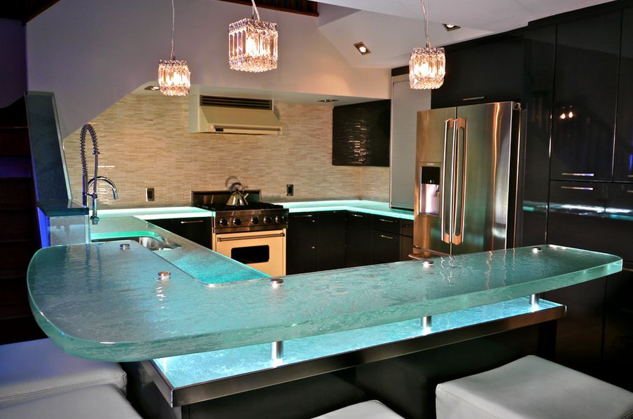 Recycled Glass Material For Kitchen Countertops Reviews